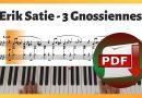 Erik Satie – 3 Gnossiennes | Piano Sheet Music PDF Free Download