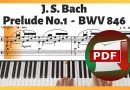 Bach – Prelude No. 1 in C Major BWV 846 (Well Tempered Clavier: Book 1) | Sheet Music PDF Download