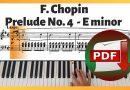 Chopin – Prelude in E Minor Op. 28 No. 4 | Sheet Music PDF Free Download
